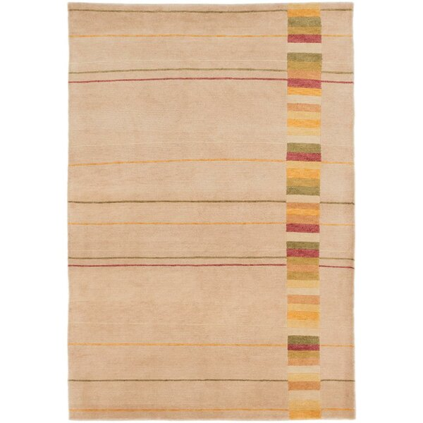 One-of-a-Kind Cherukumilli Hand-Knotted Ivory Area Rug by Latitude Run