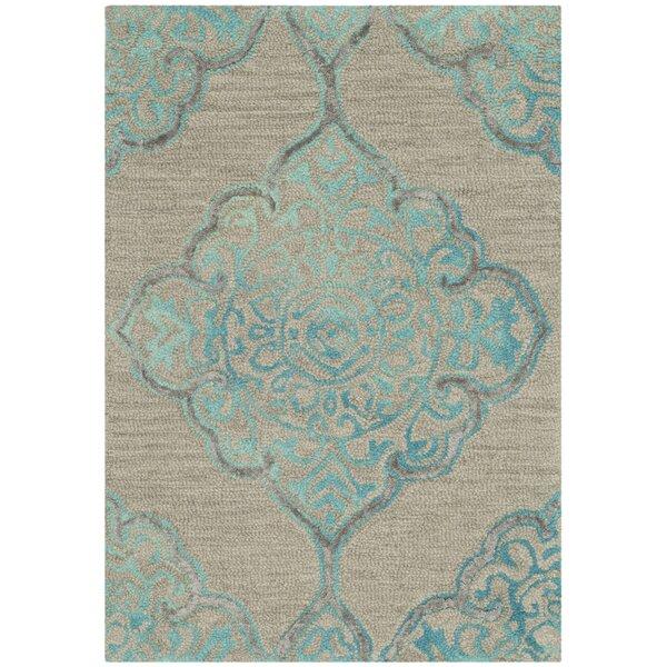 Brennan Hand-Tufted Wool Beige Area Rug by Bungalow Rose