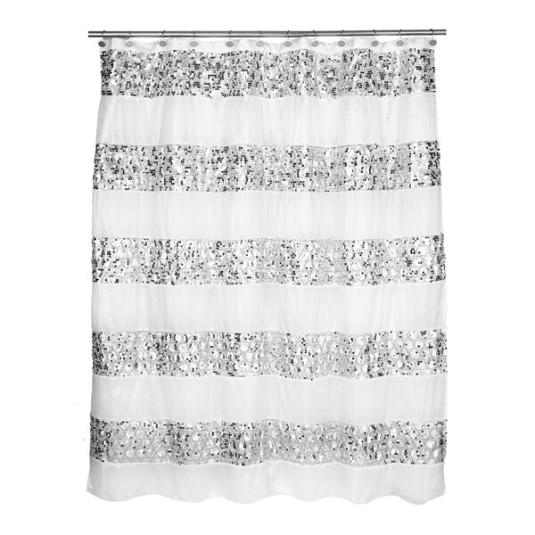 Rivet Striped Shower Curtain by Willa Arlo Interio