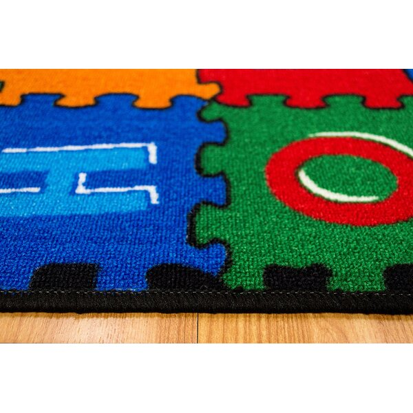 ABC Puzzle Blue/Green Kids Rug by LYKE Home