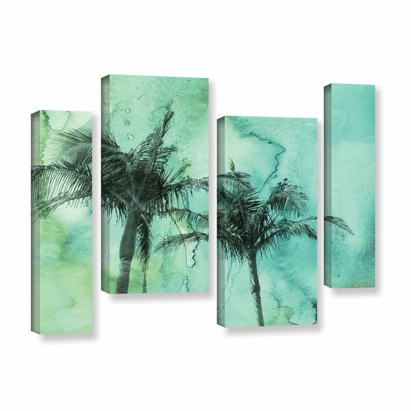 Palm Trees 2 4 Piece Painting Print on Wrapped Canvas Set by Bay Isle Home