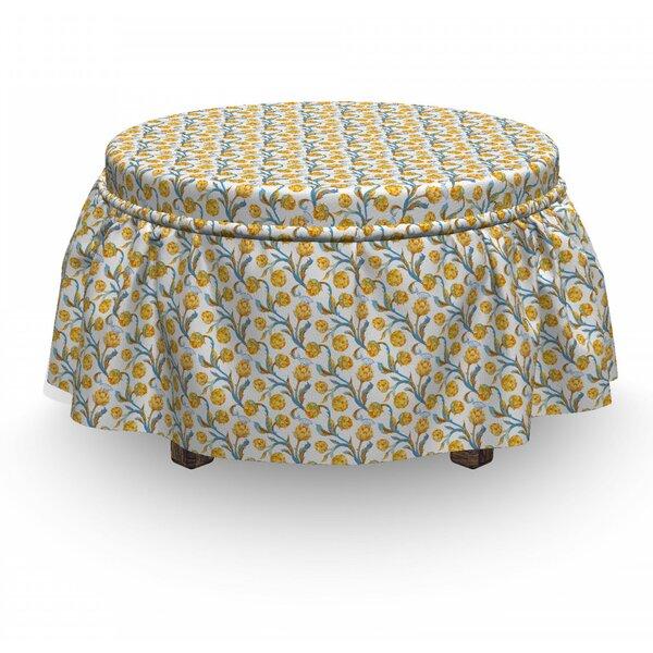 Artichoke Vegetables 2 Piece Box Cushion Ottoman Slipcover Set By East Urban Home