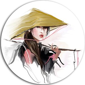 'Vietnamese Woman' Painting Print on Metal by Design Art