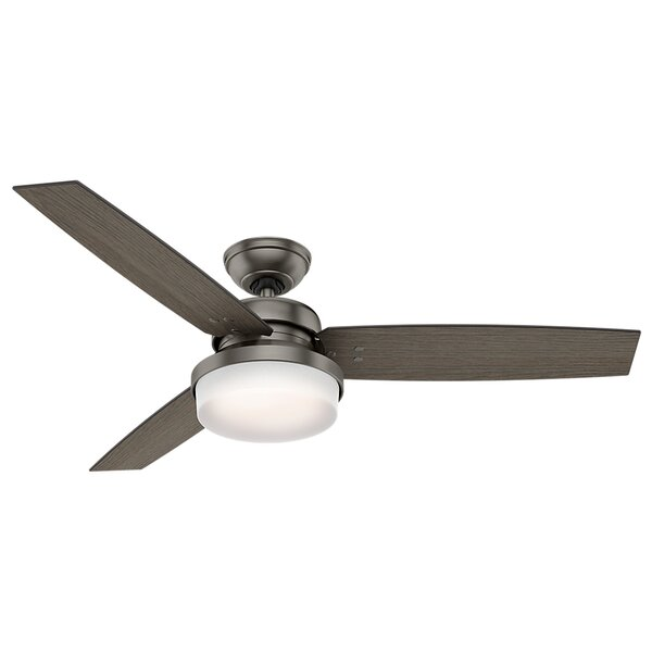 60 Sentinel 3 Blade LED Ceiling Fan with Remote by Hunter Fan