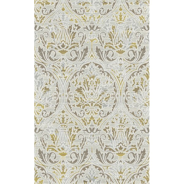 Lower West Side Amber/Mocha Area Rug by Winston Porter