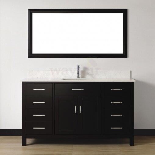 Celize 60 Single Bathroom Vanity Set with Mirror by Bauhaus Bath