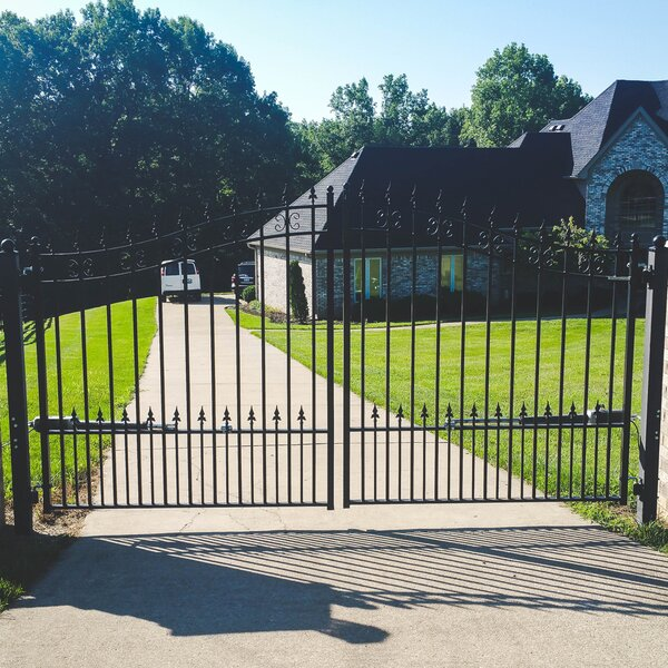 St. Petersburg Steel Dual Swing Driveway Gate by ALEKO