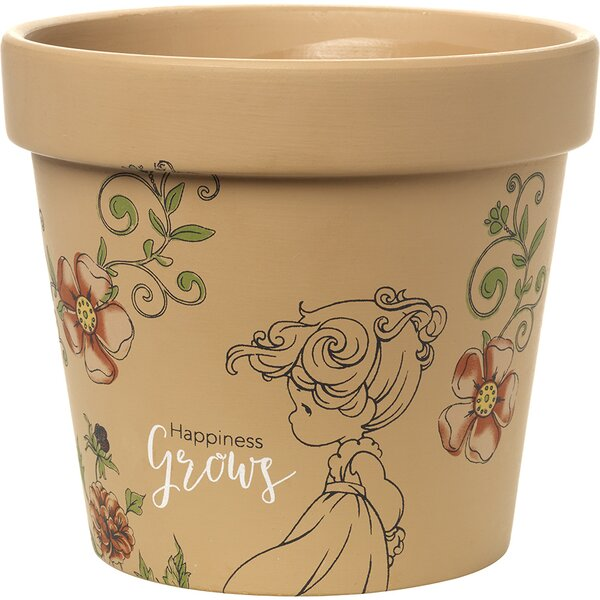 Happiness Grows High Yard Décor Terracotta Pot Planter by Precious Moments