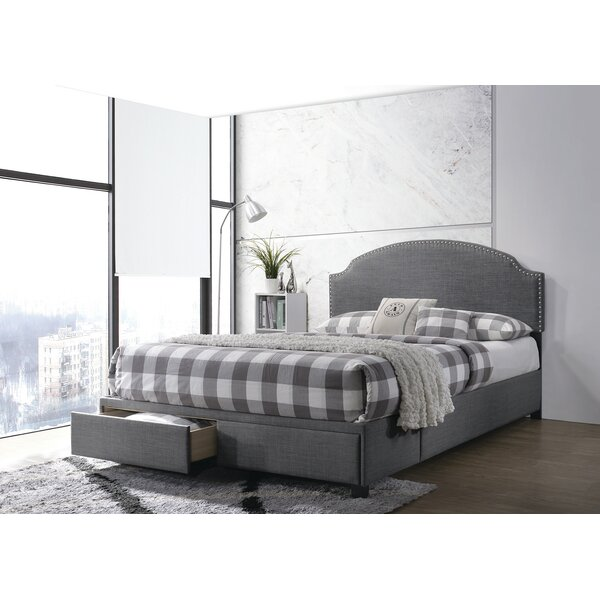 Voncile 2-Drawer Upholstered Full Storage Bed Charcoal by Red Barrel Studio