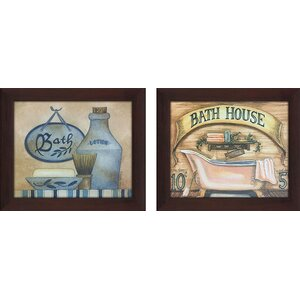 Bath House 2 Piece Framed Wall Art on Canvas Set by Picture Perfect International