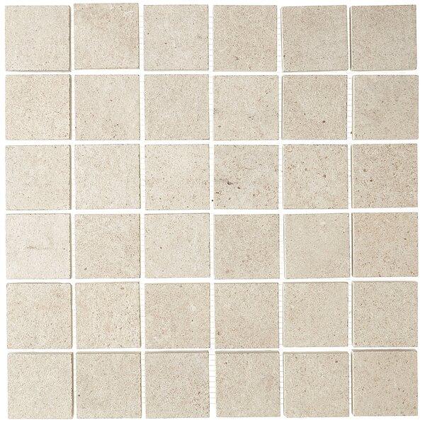 Haut Monde 2 x 2 Ceramic Mosaic Tile in Aristocrat Cream by Daltile