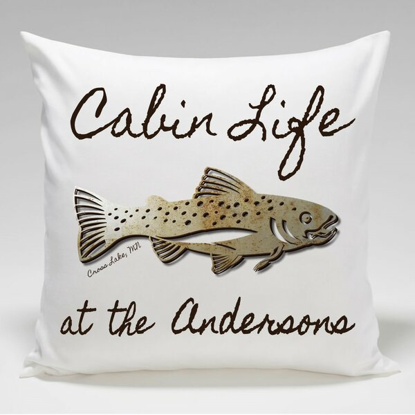 tapestry trout p pillow quot throw lodge fish x
