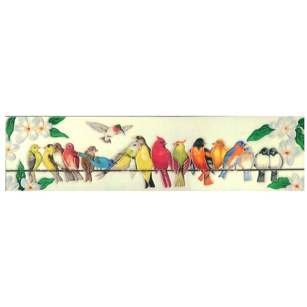 Birds Hanging Out Tile Wall Decor by Continental Art Center