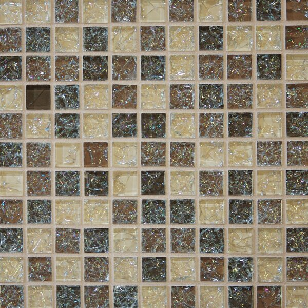 Staccato Mosaic Gloss Tile in Beige by Grayson Martin