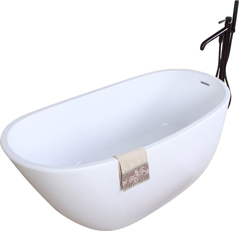 Aqua Eden 59 x 286 Soaking Bathtub