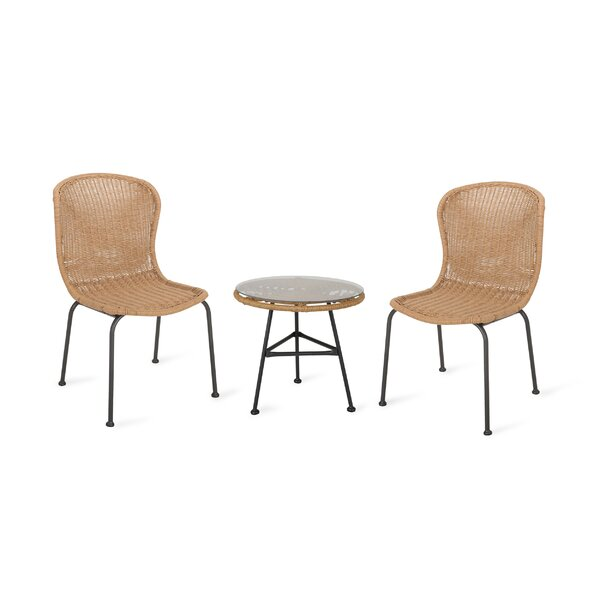 Spinnaker 3 Piece Rattan Seating Group By Bayou Breeze
