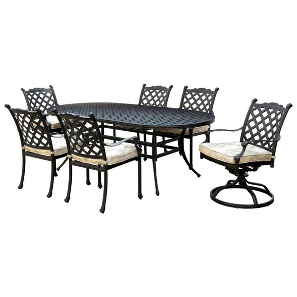 Marilee 7 PC Fabric Dining Table Set by Fleur De Lis Living