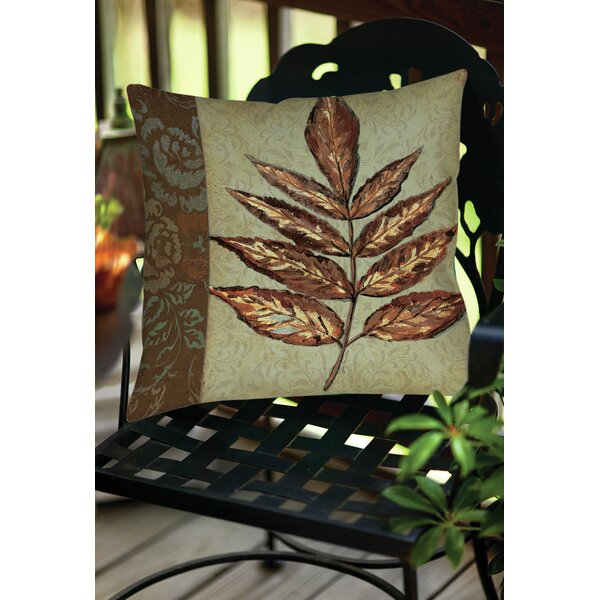 Golden Leaf 2 Indoor/Outdoor Throw  Pillow by Manual Woodworkers & Weavers