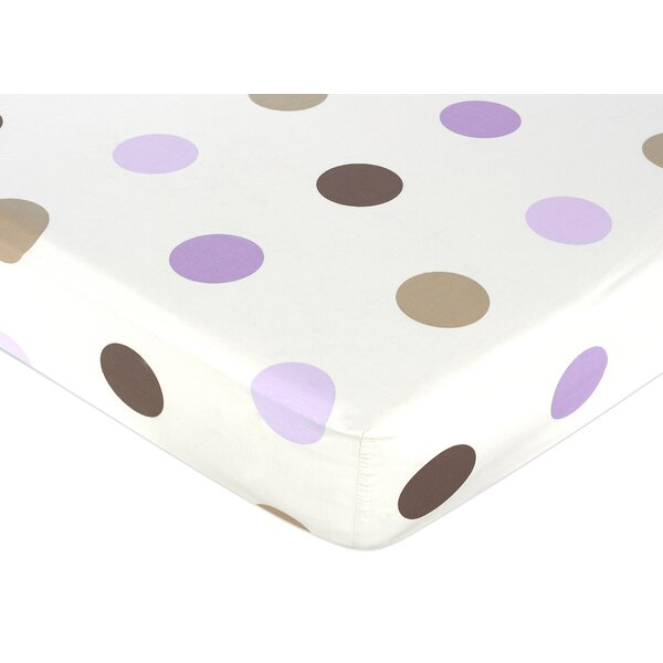 Mod Dots Large Dot Fitted Crib Sheet by Sweet Jojo Designs