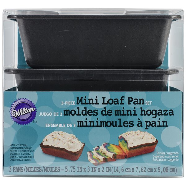 Mini Loaf Pans Set (Set of 3) by Wilton