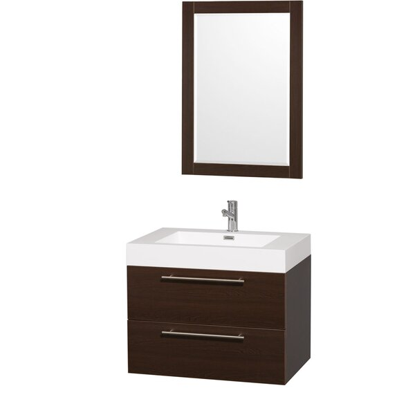 Amare 29 Single Espresso Bathroom Vanity Set with Mirror by Wyndham Collection