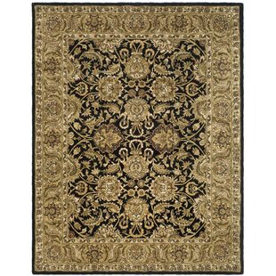 Bromley Hand-Tufted Wool Black/Gold/Dark Sage/Brown/Ivory Area Rug by Charlton Home