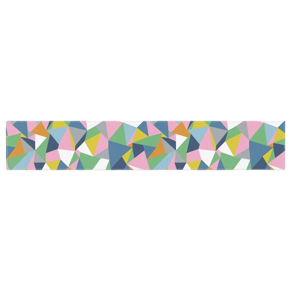 Project M Abstraction Abstract Table Runner by East Urban Home