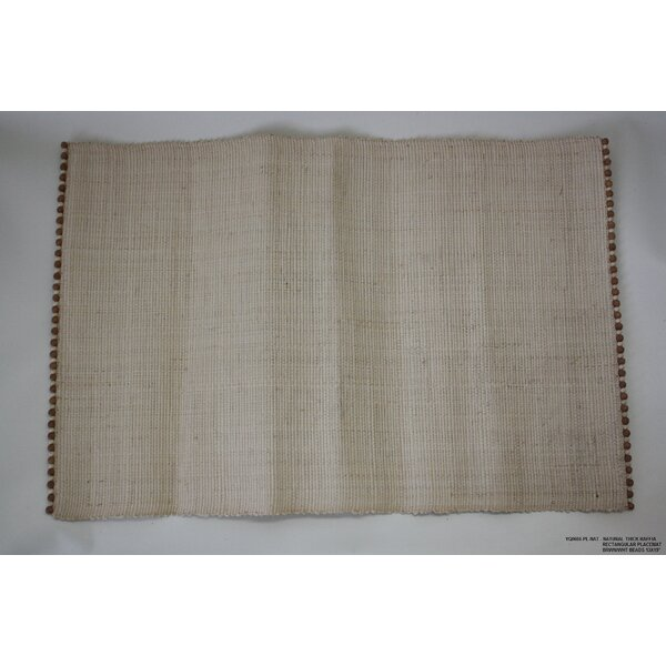 Natural Beaded Raffia Placemat (Set of 4) by Desti Design