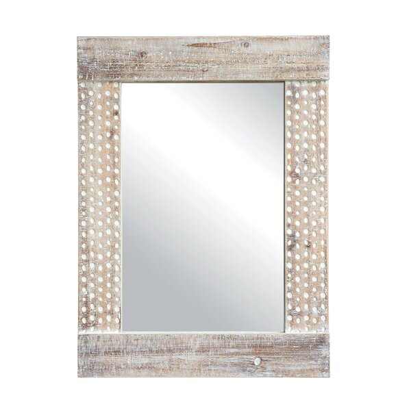 Islesford Wood Framed Accent Mirror by Rosecliff Heights