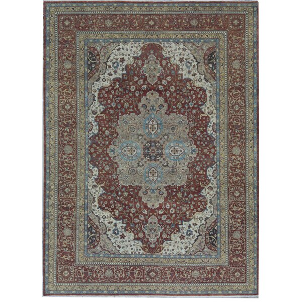 Oriental Hand-Knotted Wool Rust Area Rug