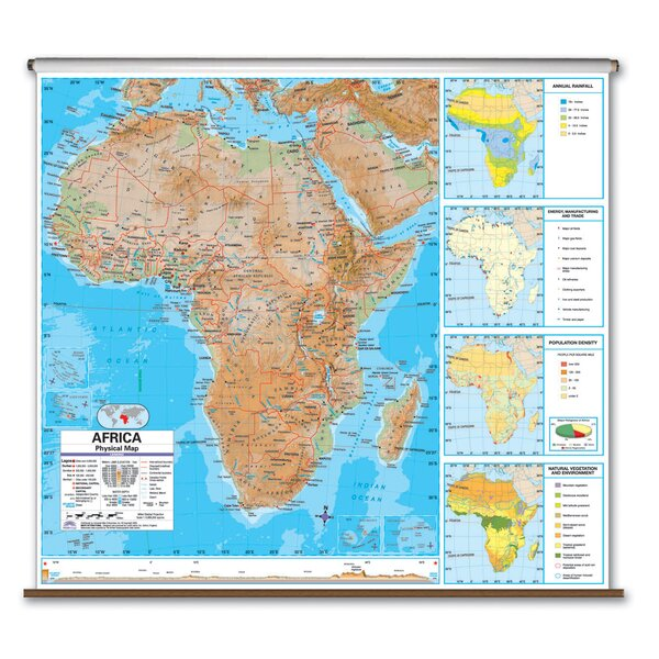 Advanced Physical Map - Africa by Universal Map