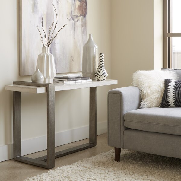 Union Rustic Marble Console Tables