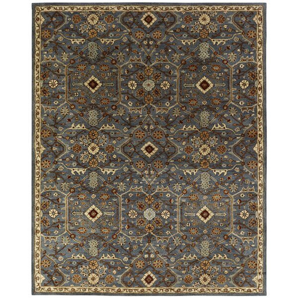 Steffens Hand-Woven Blue/Brown Area Rug by World Menagerie