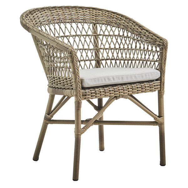 Harriman Stacking Patio Dining Chair by Bungalow Rose