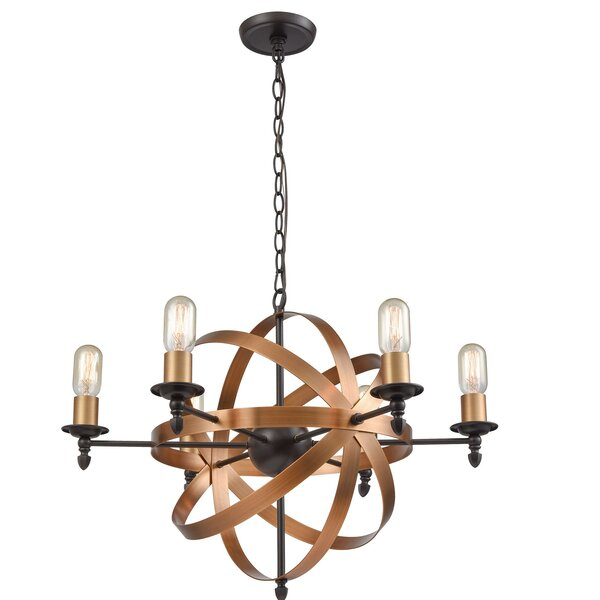 SandpiperCove 6 - Light Candle Style Geometric Chandelier by Wrought Studio Wrought Studio