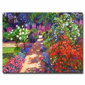 Romantic Garden Walk by David Lloyd Glover Painting Print on Canvas by Trademark Fine Art
