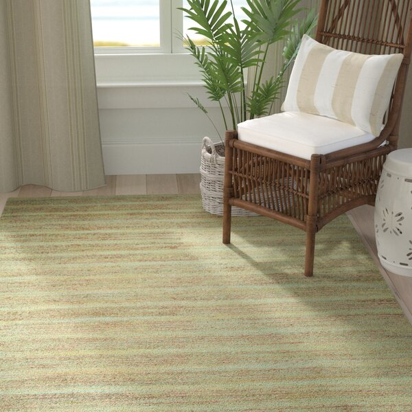 Abia Hand-Woven Light Green Area Rug by Highland Dunes