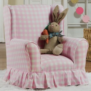Evangelina Wing Kids Cotton Club Chair by Viv   Rae