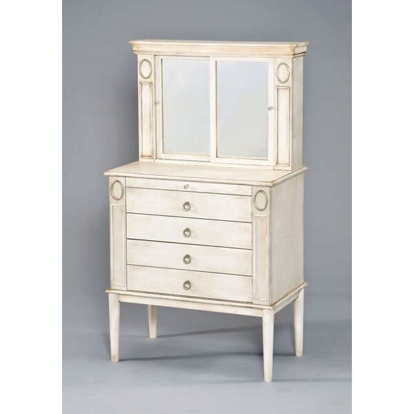 Adaline Free Standing Jewelry Armoire with Mirror by Ophelia & Co.