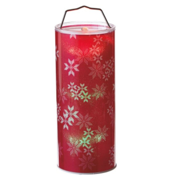 Battery Operated Transparent Snowflake LED Color Changing Lighted Hanging Christmas Metal/Plastic Lantern by The Holiday Aisle