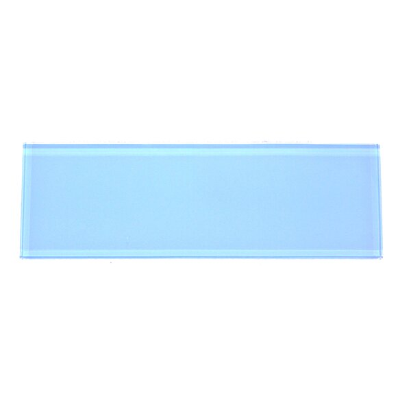Premium Series 4 x 12 Glass Subway Tile in Coral Blue by WS Tiles