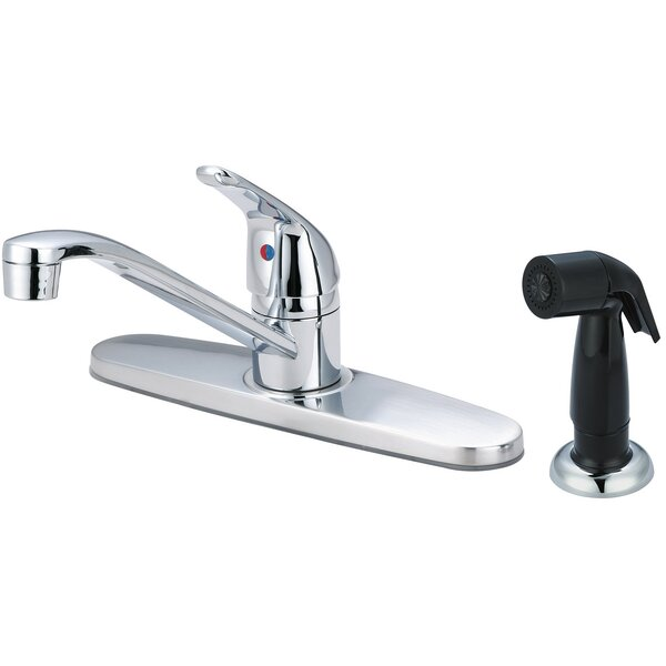 Single Handle Kitchen Faucet with Side Spray by Olympia Faucets
