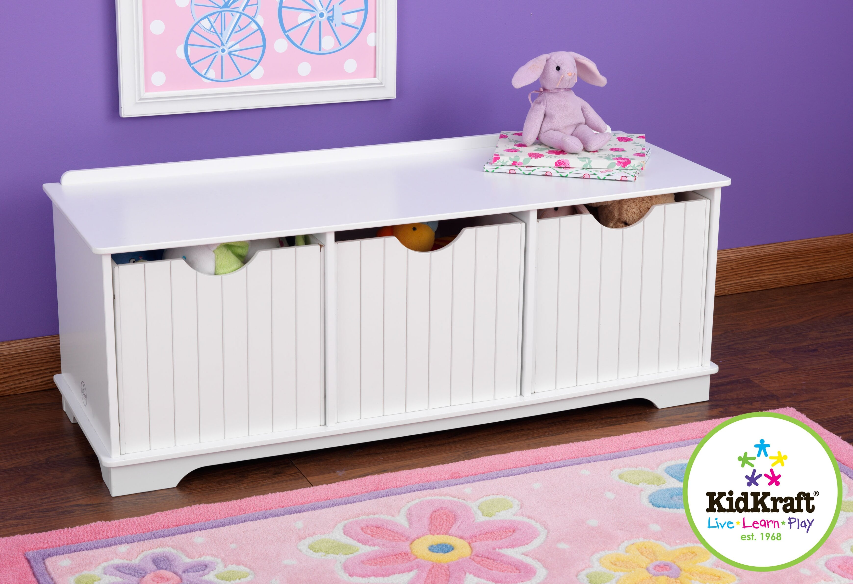 KidKraft Nantucket Storage Bench U0026 Reviews | Wayfair