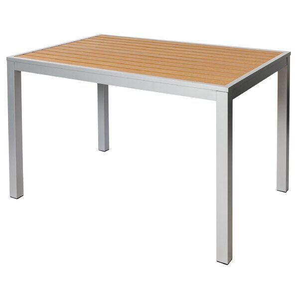 Longport Aluminum Dining Table by BFM Seating