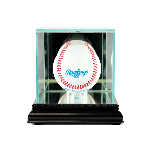 Single Baseball Display Case by Perfect Cases and Frames
