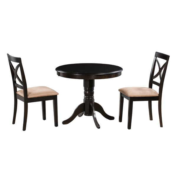 Katelyn 3 Piece Solid Wood Dining Set by Alcott Hill