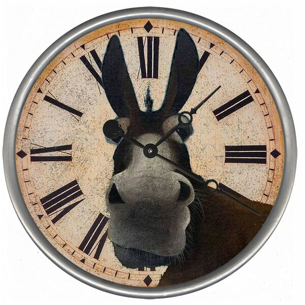 Tarvin Mule Wall Clock by August Grove