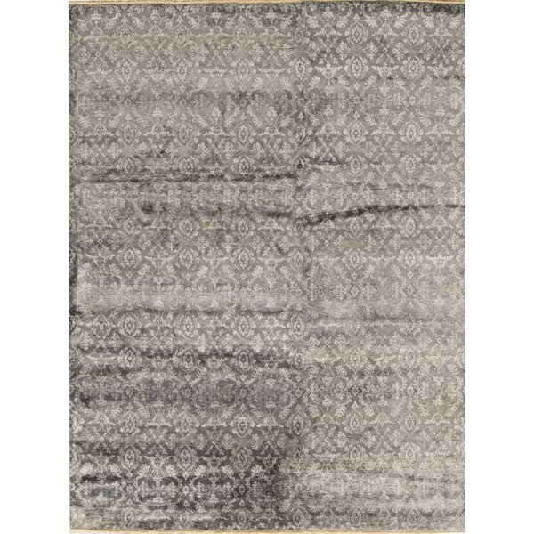 Hand-Knotted Wool Gray/Blue Area Rug