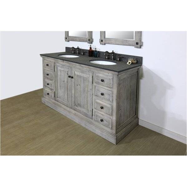 Eunice 61 Double Bathroom Vanity Set by Millwood Pines