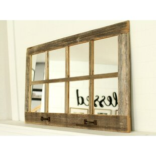 Millwood Pines Fontenelle Farmhouse 8 Windowpane Accent Mirror
